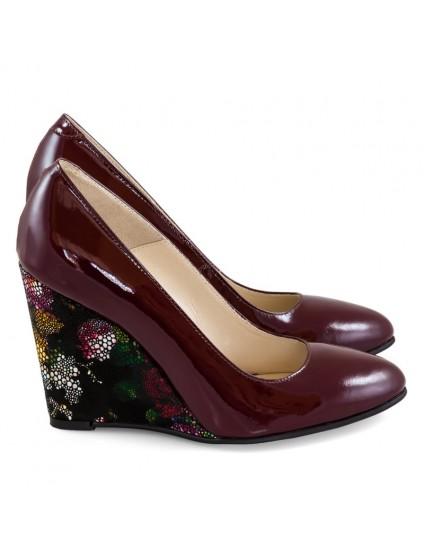 Pantofi cu Platforma Piele Color D10 - orice culoare