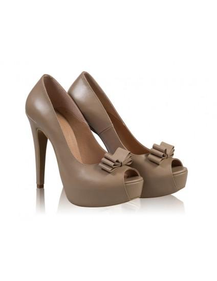 Pantofi Piele Lori Funda N60 Capucino- orice culoare