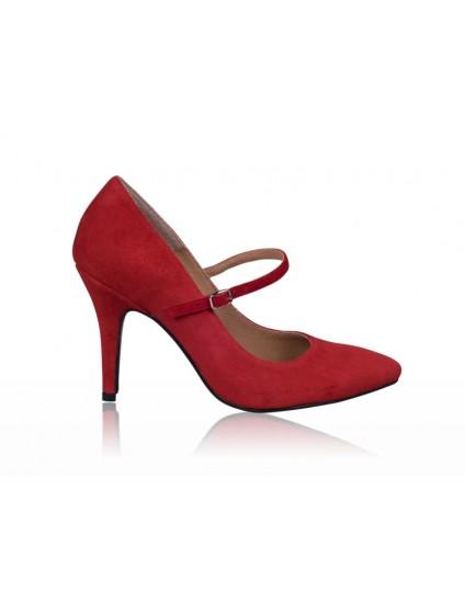 Pantofi piele stiletto cu bareta - orice  culoare