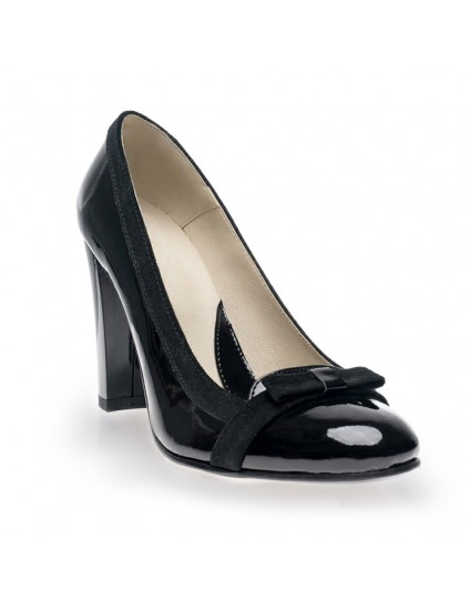 Pantofi dama piele office Negru V18 - orice culoare