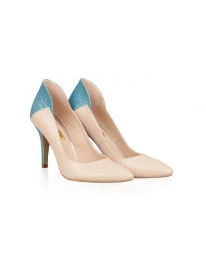 Pantofi Stiletto Queen Turcoaz N1 - orice culoare