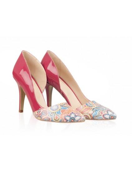 Pantofi Piele Stiletto Fancy Roz N30 - orice culoare