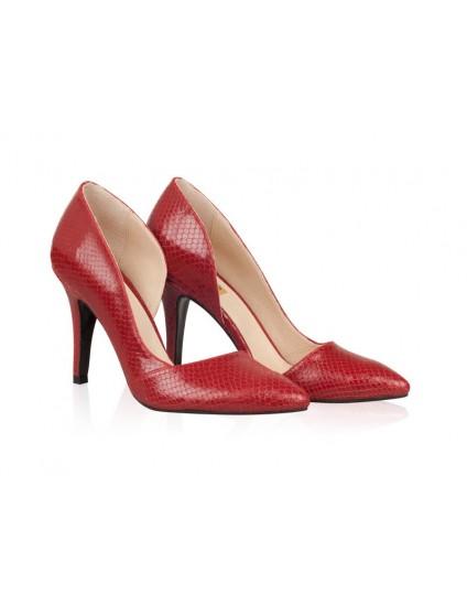 Pantofi Piele Stiletto Fancy Rosu N30 - orice culoare