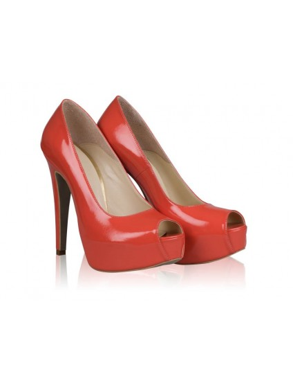 Pantofi Piele Lori N60 Corai- orice culoare