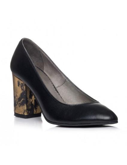 Pantofi Piele Confort I4 Negru  - orice culoare