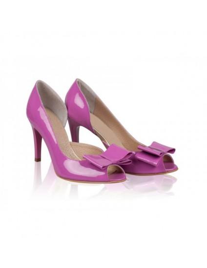 Pantofi Dama Piele lacuita Silky Lila - orice culoare