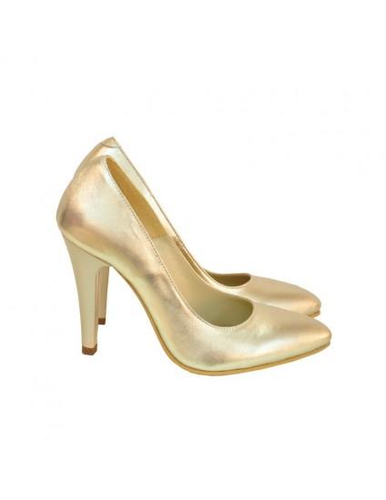 Pantofi Dama Piele Stiletto Auriu D16 - orice culoare