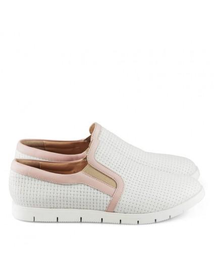 Pantofi dama sport din piele naturala Megan Alb D8 - orice culoare