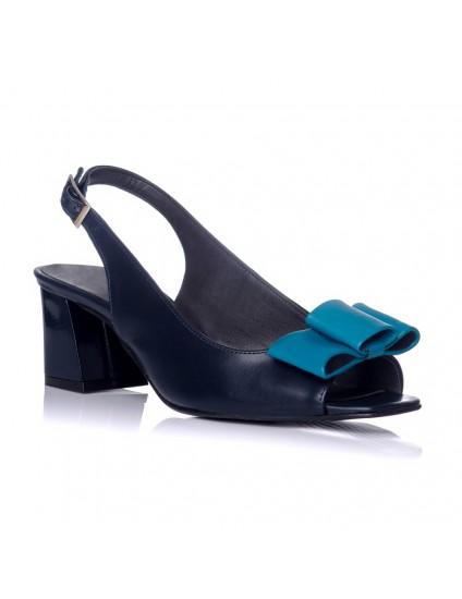 Sandale piele bleumarin Chic madame1 - pe stoc