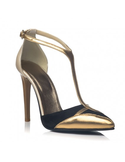 Pantofi Dama Piele Stiletto Gold C21 - orice culoare