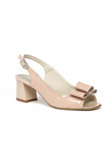 Sandale din piele intoarsa nude Chic madame1 - pe stoc