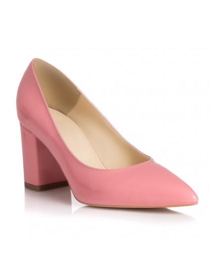 Pantofi Piele Lacuita  Roz Pal L28 - orice culoare