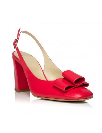 Pantofi Chic Madame decupat Piele Roz- disponibili pe orice culoare