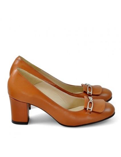 Pantofi Piele Office Camel D40 - orice culoare