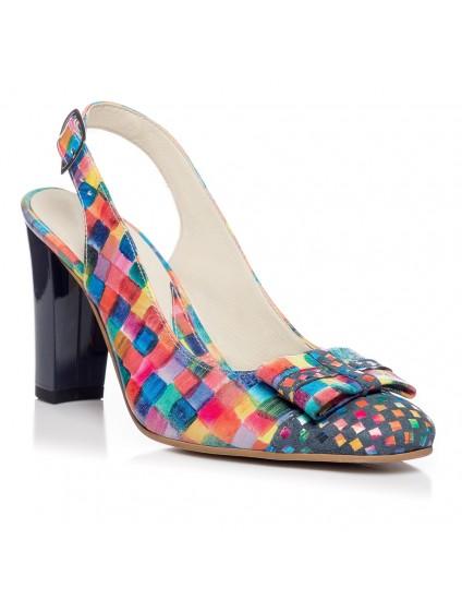 Pantofi office decupat piele Multicolor V16 - orice culoare