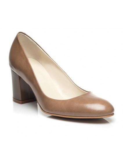 Pantofi Dama Office piele Cafeniu C16