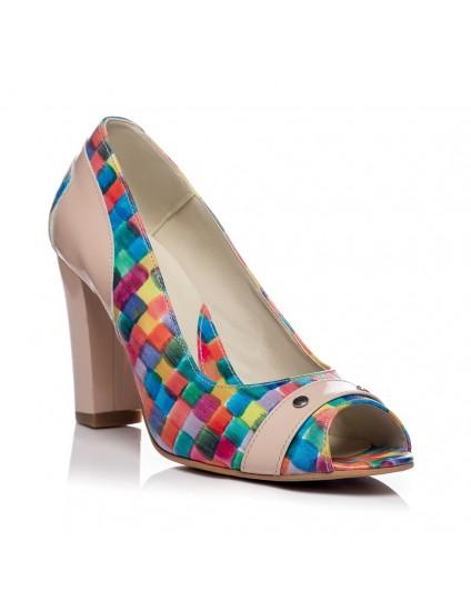 Pantofi office piele Multicolor V17 - orice culoare