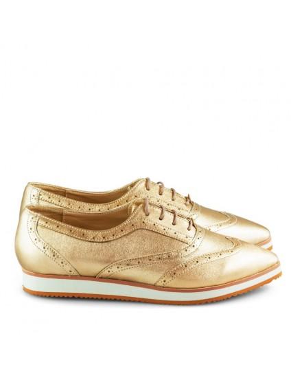 Pantofi Oxford Piele Auriu Combi D1 - orice culoare