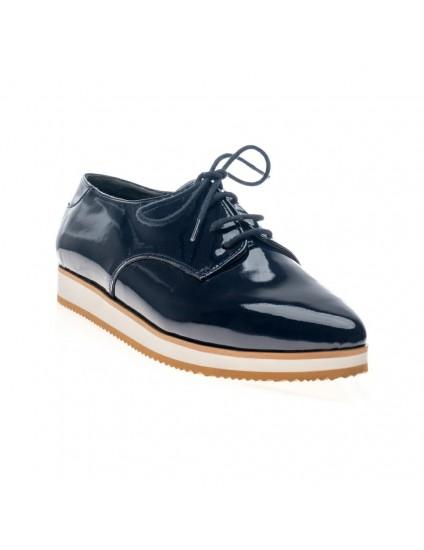 Pantofi piele Oxford Varf ascutit Bleumarin V4 - orice culoare