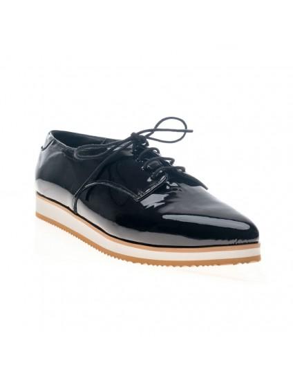 Pantofi piele Oxford Varf ascutit Negru V4 - orice culoare
