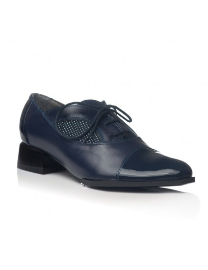 Pantofi Oxford Office piele bleumarin V19 - orice culoare