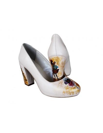 Pantofi pictati manual Paris- orice culoare