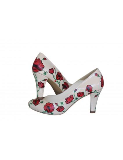 Pantofi pictati manual Roses - orice culoare