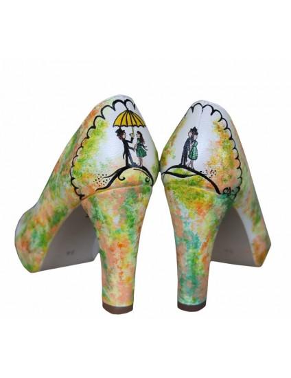 Pantofi pictati manual Umbrella- orice culoare
