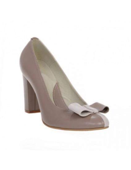 Pantofi dama piele naturala capucino Funda Duo - orice culoare