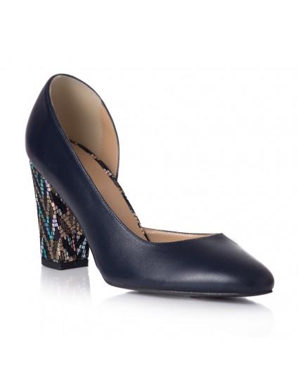 Pantofi Piele Comod Toc Color T4 - orice culoare
