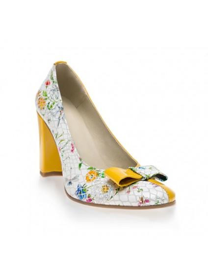 Pantofi dama piele naturala Floral Funda Duo - orice culoare