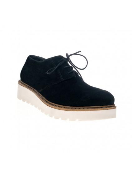 Pantofi piele intoarsa negru Oxford V6 - orice culoare