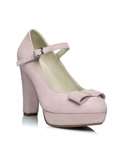 Pantofi Mini Tuxedo Bareta Roz Pal - pe stoc
