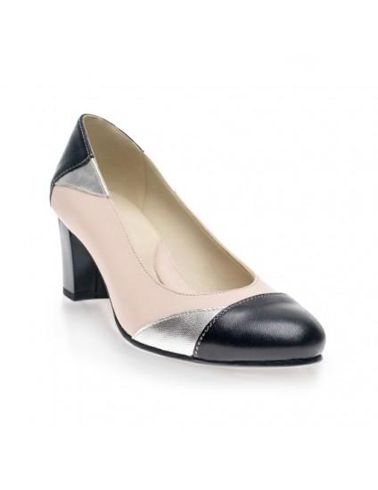 Pantofi piele Comod Argintiu - orice culoare