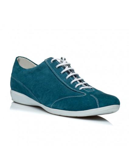 Pantofi piele sport barbati albastru