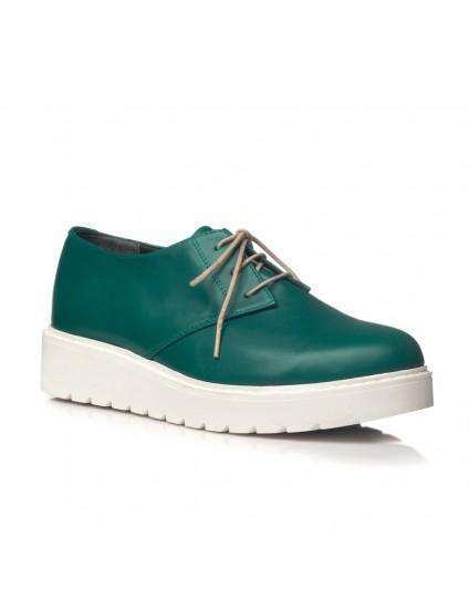 Pantofi piele verde Oxford V14 - orice culoare
