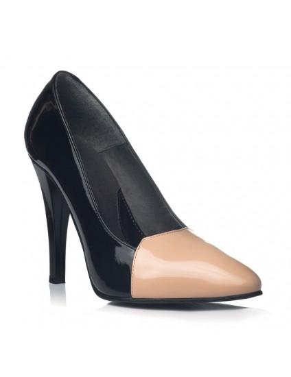 Pantofi Dama Piele Stiletto Lia Nude V22 - orice culoare