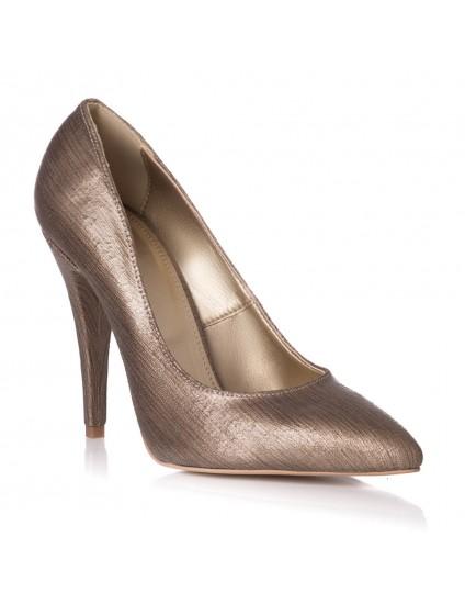 Pantofi Stiletto Piele Auriu Bronz L29 - orice culoare