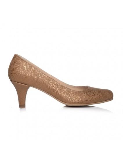 Pantofi Stiletto Auriu Toc Mic I1 - orice culoare