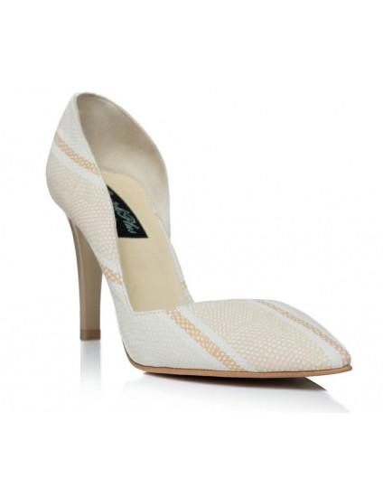 Pantofi Stiletto Decupat  Piele Model C2  - orice culoare