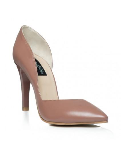 Pantofi Stiletto Decupat  Piele Maro C2  - orice culoare