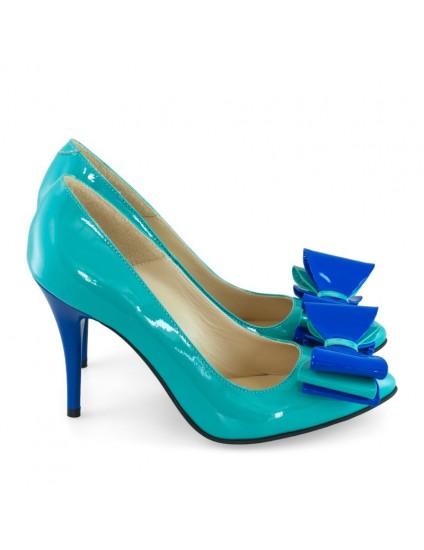 Pantofi piele stiletto Funda Smarald D18