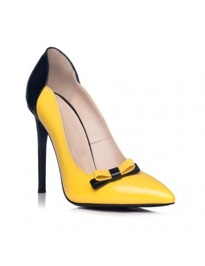 Pantofi Dama Piele Stiletto Fundita L1 - orice culoare