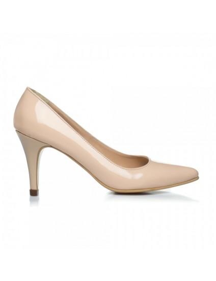Pantofi Stiletto Toc Mic I1 Lac Negru - pe stoc