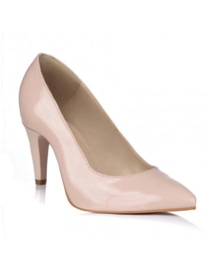 Pantofi Stiletto Lac Nude Toc Mic V30 - orice culoare