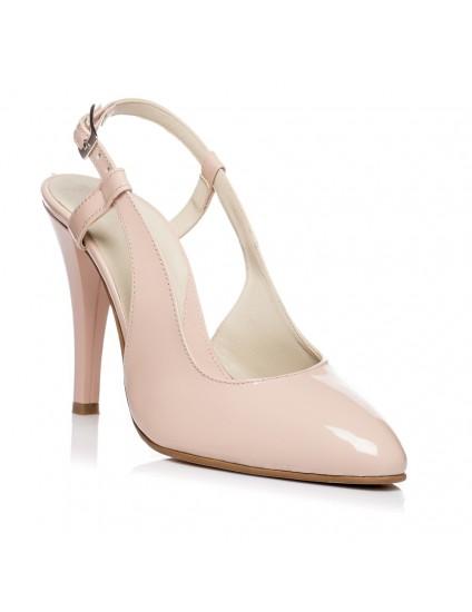 Pantofi Stiletto decupat Lac Nude V5  - orice culoare