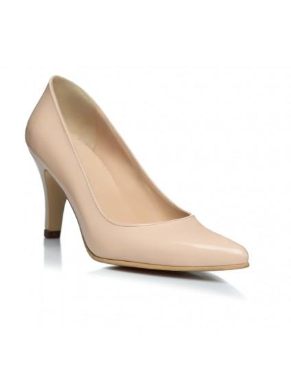 Pantofi Stiletto Nude Toc Mic - pe stoc