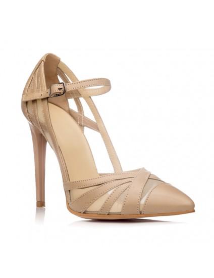 Pantofi Dama Piele Stiletto Nude Cathy - orice culoare