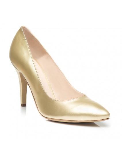 Pantofi Stiletto Piele Auriu C12 - orice culoare