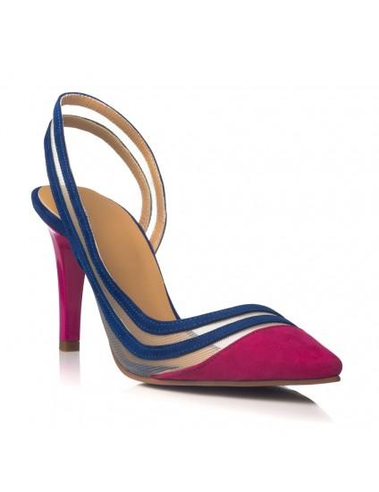 Pantofi Stiletto Piele Ciclam Mary C34 - orice culoare